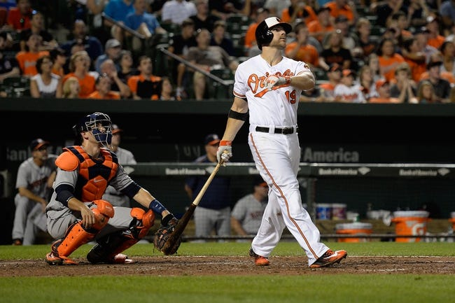 Baltimore Orioles vs. Houston Astros - 8/19/16 MLB Pick, Odds, and Prediction