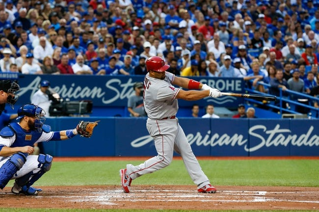 Toronto Blue Jays vs. Los Angeles Angels - 8/25/16 MLB Pick, Odds, and Prediction