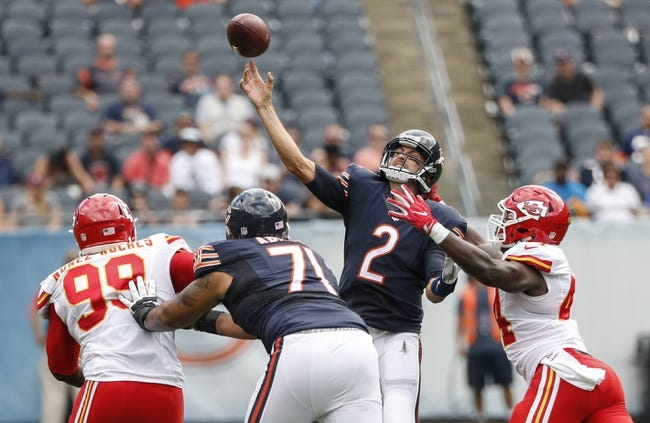 Chicago Bears vs. Kansas City Chiefs - 8/25/18 NFL Pick, Odds, and Prediction