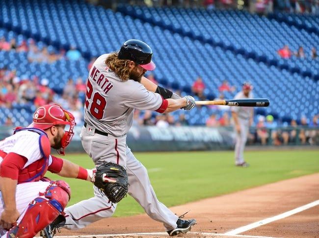 Philadelphia Phillies vs. Washington Nationals - 8/31/16 MLB Pick, Odds, and Prediction