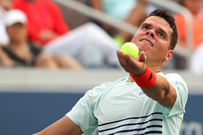 Milos Raonic through to French Open last 16 as Garcia-Lopez retires