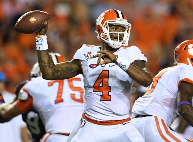 Clemson Tigers vs. Troy Trojans - 9/10/16 College Football Pick, Odds, and Prediction
