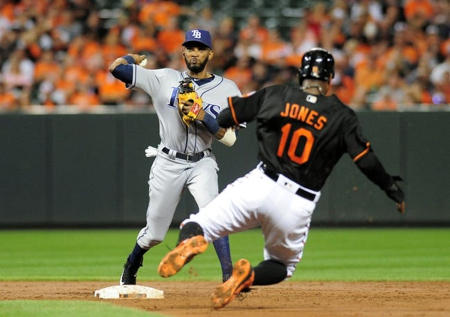 Baltimore Orioles vs. Tampa Bay Rays - 9/17/16 MLB Pick, Odds, and Prediction