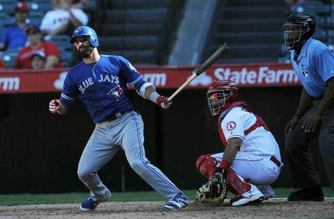 Doubles twice, scores twice in Angels' win over Blue Jays