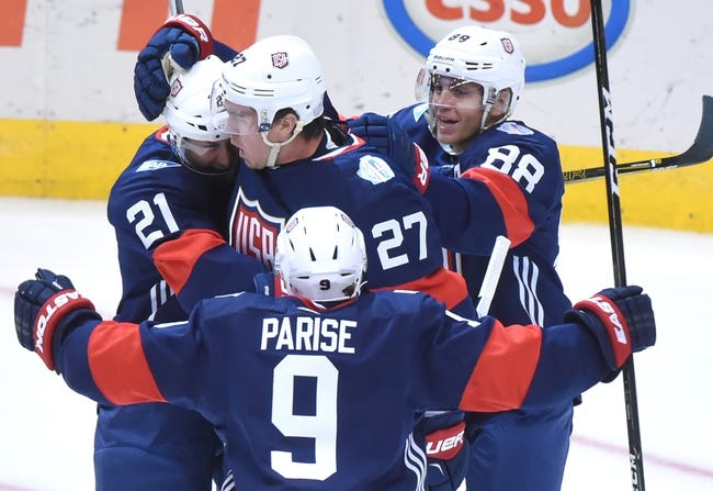 USA vs Czech Republic: World Cup of Hockey - 9/22/16 Pick, Odds, and Prediction
