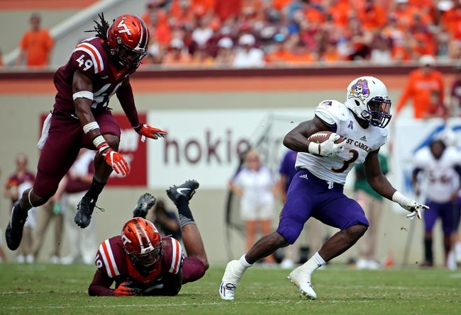 East Carolina vs. Virginia Tech - 9/16/17 College Football Pick, Odds, and Prediction