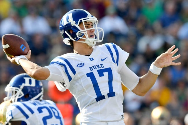 Virginia at Duke - 10/1/16 College Football Pick, Odds, and Prediction