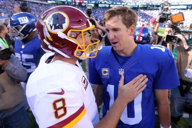 Washington Redskins vs. New York Giants - 1/1/17 NFL Pick, Odds, and Prediction