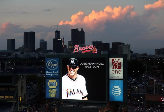 Marlins-Braves halted when several banks of lights go out