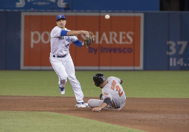 Toronto Blue Jays vs. Baltimore Orioles - 9/28/16 MLB Pick, Odds, and Prediction