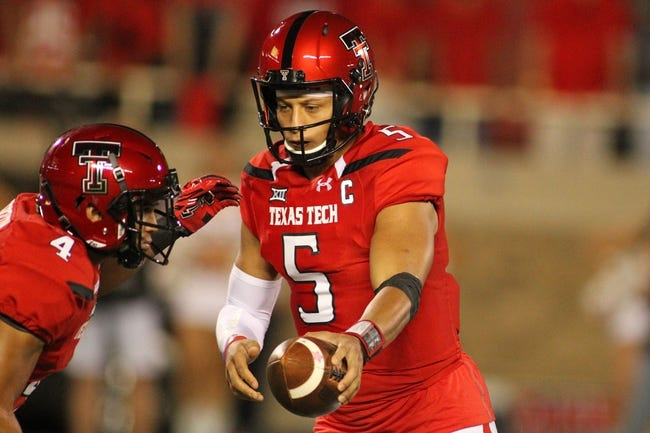 West Virginia Mountaineers at Texas Tech Red Raiders - 10/15/16 College Football Pick, Odds, and Prediction