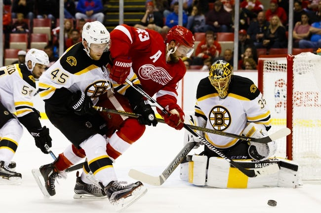 Detroit Red Wings vs. Boston Bruins - 10/29/16 NHL Pick, Odds, and Prediction