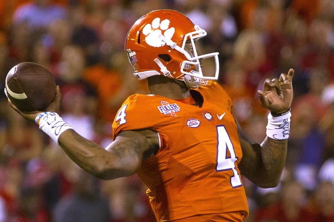 Boston College Eagles vs. Clemson Tigers - 10/7/16 College Football Pick, Odds, and Prediction