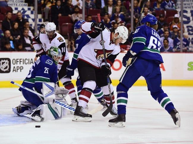 Vancouver Canucks vs. Arizona Coyotes - 11/17/16 NHL Pick, Odds, and Prediction
