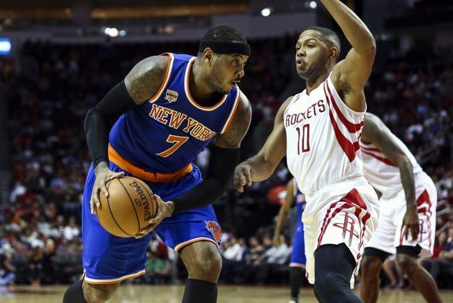 New York Knicks vs. Houston Rockets - 11/2/16 NBA Pick, Odds, and Prediction