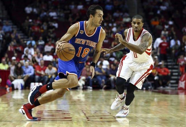 New York Knicks vs. Brooklyn Nets - 10/8/16 NBA Preseason Pick, Odds, and Prediction