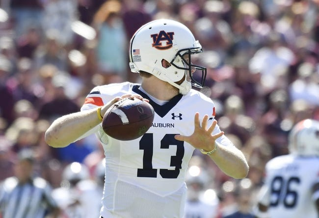 Arkansas at Auburn - 10/22/16 College Football Pick, Odds, and Prediction