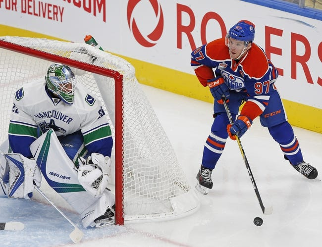 Vancouver Canucks vs. Edmonton Oilers - 10/28/16 NHL Pick, Odds, and Prediction