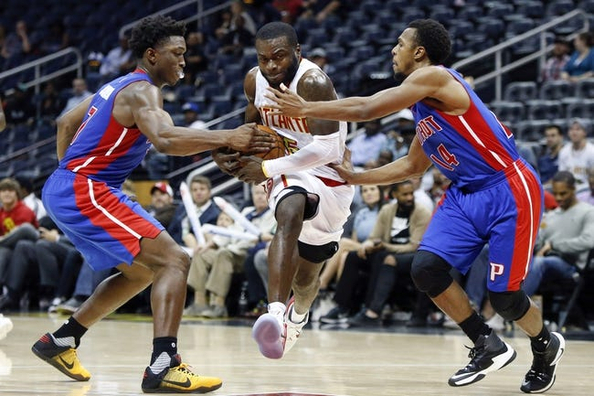 Atlanta Hawks vs. Detroit Pistons - 12/2/16 NBA Pick, Odds, and Prediction