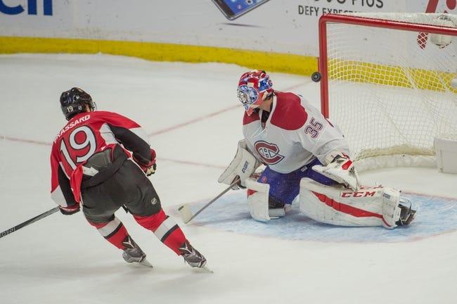 Montreal Canadiens vs. Ottawa Senators - 11/22/16 NHL Pick, Odds, and Prediction