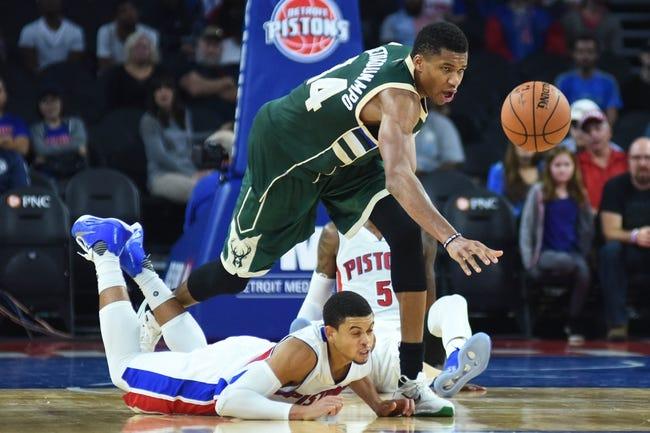 Detroit Pistons vs. Milwaukee Bucks - 10/30/16 NBA Pick, Odds, and Prediction