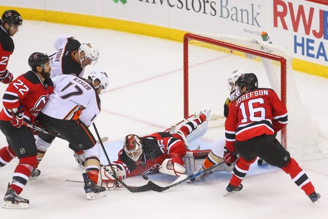 Anaheim Ducks vs. New Jersey Devils - 11/17/16 NHL Pick, Odds, and Prediction