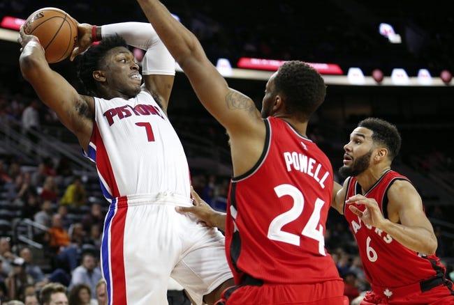Detroit Pistons at Toronto Raptors - 10/26/16 NBA Pick, Odds, and Prediction