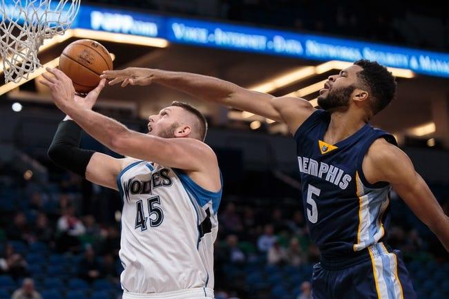 Minnesota Timberwolves at Memphis Grizzlies - 10/26/16 NBA Pick, Odds, and Prediction