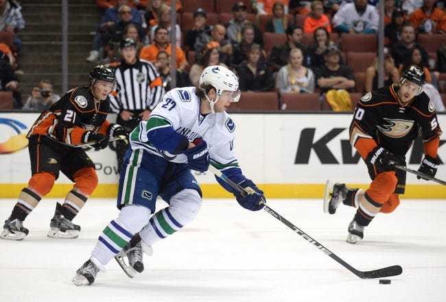 Vancouver Canucks vs. Anaheim Ducks - 12/1/16 NHL Pick, Odds, and Prediction