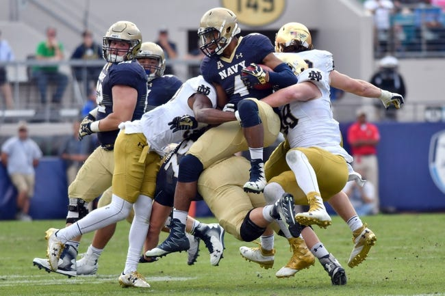 Notre Dame vs. Navy - 11/18/17 College Football Pick, Odds, and Prediction