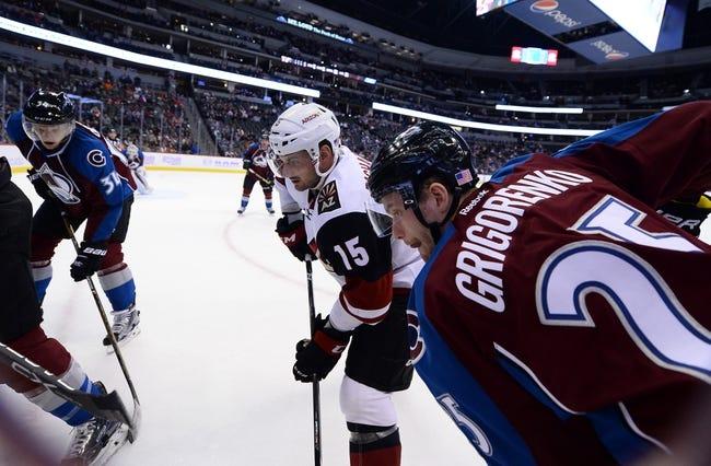 Arizona Coyotes vs. Colorado Avalanche - 12/23/17 NHL Pick, Odds, and Prediction