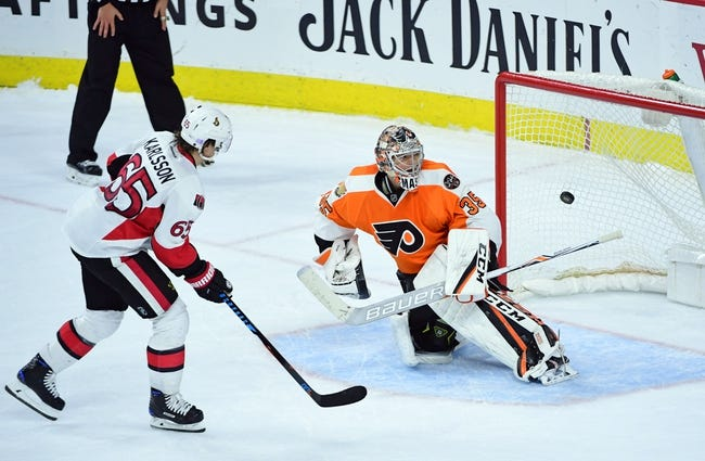 Ottawa Senators vs. Philadelphia Flyers - 12/1/16 NHL Pick, Odds, and Prediction