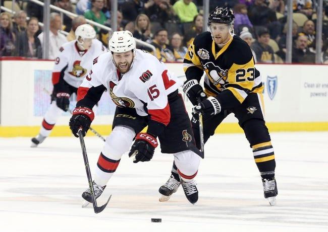 Ottawa Senators vs. Pittsburgh Penguins - 1/12/17 NHL Pick, Odds, and Prediction