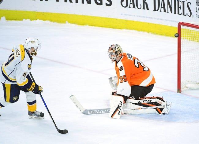 Nashville Predators vs. Philadelphia Flyers - 10/10/17 NHL Pick, Odds, and Prediction