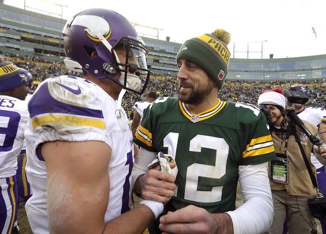Minnesota Vikings vs. Green Bay Packers - 10/15/17 NFL Pick, Odds, and Prediction