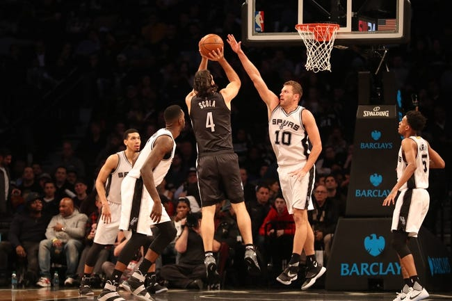 San Antonio Spurs vs. Brooklyn Nets - 12/26/17 NBA Pick, Odds, and Prediction