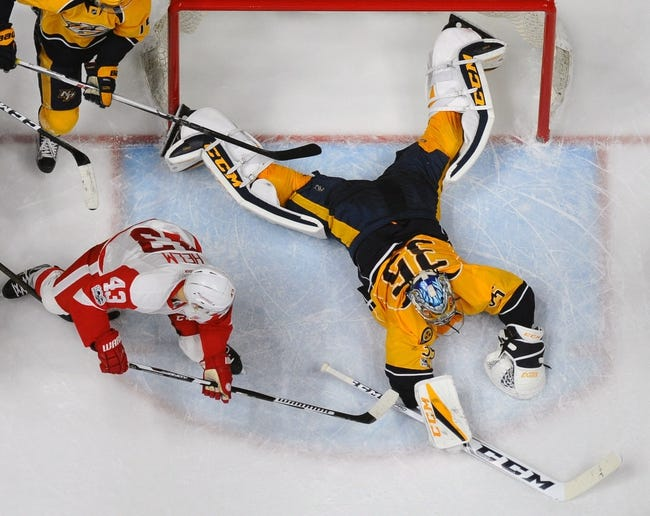 Nashville Predators vs. Detroit Red Wings - 2/17/18 NHL Pick, Odds, and Prediction