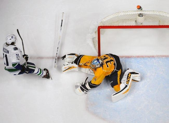 Nashville Predators vs. Vancouver Canucks - 11/30/17 NHL Pick, Odds, and Prediction