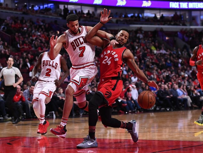 Bulls' Robin Lopez and Raptors' Serge Ibaka exchange punches, get ejected