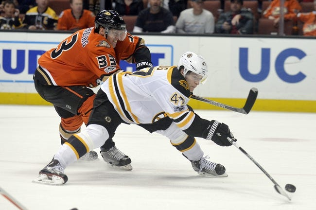 Anaheim Ducks vs. Boston Bruins - 11/15/17 NHL Pick, Odds, and Prediction