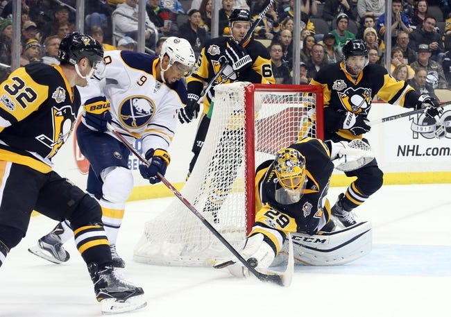 Sabres hang tough, fall late to Penguins 3-1