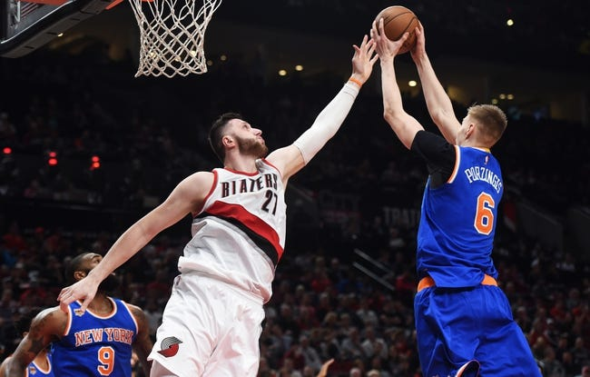 New York Knicks vs. Portland Trail Blazers - 11/27/17 NBA Pick, Odds, and Prediction