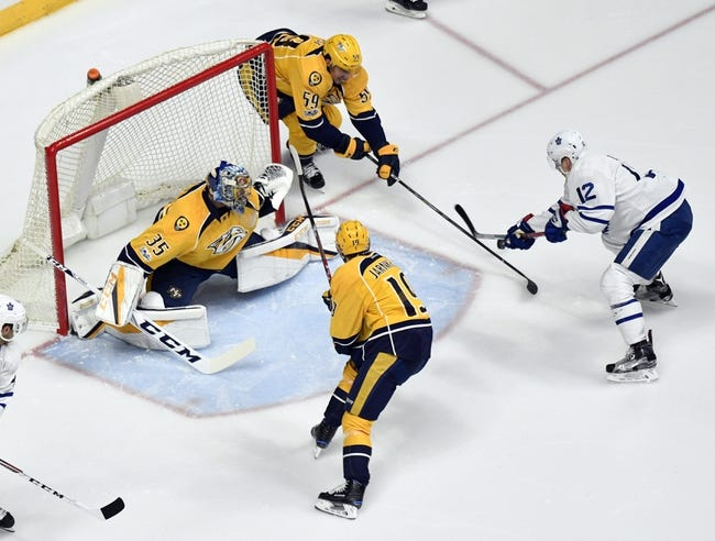 Toronto Maple Leafs vs. Nashville Predators - 2/7/18 NHL Pick, Odds, and Prediction