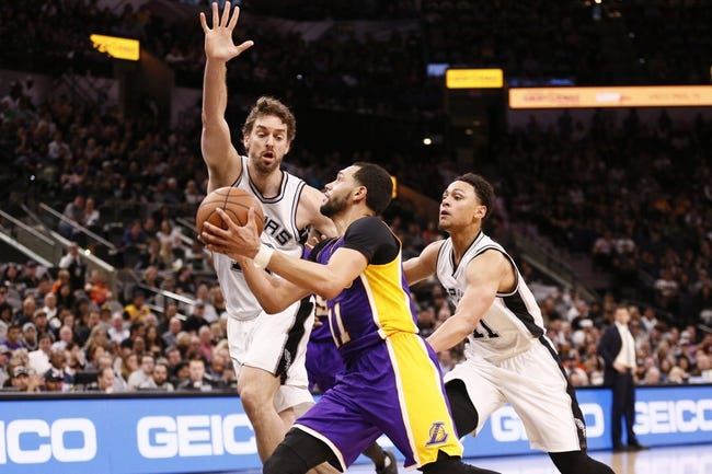 Los Angeles Lakers vs. San Antonio Spurs - 1/11/18 NBA Pick, Odds, and Prediction
