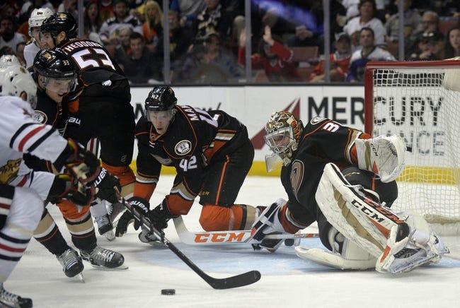 Chicago Blackhawks vs. Anaheim Ducks - 11/27/17 NHL Pick, Odds, and Prediction