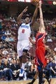 Apr 10, 2013; Philadelphia, PA, USA; Philadelphia 76ers guard Damien Wilkins (8) shoots during the first quarter against the Atlanta Hawks at the Wells Fargo Center. Mandatory Credit: Howard Smith-USA TODAY Sports