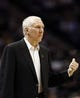 Apr 12, 2013; San Antonio, TX, USA; San Antonio Spurs head coach Gregg Popovich during the first half against the Sacramento Kings at the AT&T Center. Mandatory Credit: Soobum Im-USA TODAY Sports