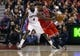 Apr 12, 2013; Toronto, Ontario, CAN; Chicago Bulls guard Nate Robinson (2) dribbles the ball as Toronto Raptors forward Quincy Acy (4) watches at the Air Canada Centre. Toronto defeated Chicago 97-88. Mandatory Credit: John E. Sokolowski-USA TODAY Sports