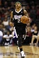 Apr 12, 2013; San Antonio, TX, USA; Sacramento Kings guard Isaiah Thomas (22) brings the ball up court during the second half against the San Antonio Spurs at the AT&T Center. Mandatory Credit: Soobum Im-USA TODAY Sports