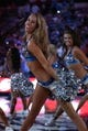 April 12, 2013; Dallas, TX, USA;  Dallas Mavericks dancers perform prior to the game against the Denver Nuggets at the American Airlines Center. The Mavs beat the Nuggets 108-105 in overtime. Mandatory Credit: Matthew Emmons-USA TODAY Sports